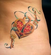 oltre 25 fantastiche idee su tatuaggio di lucchetto cuore su