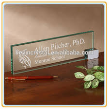 Desk Plates For Offices Table Top Jade Glass Name Plates Customized Buy Table Top Jade