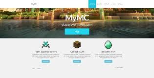mymc free minecraft website template by rodymol123 on deviantart