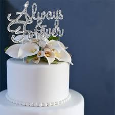 rhinestone cake always forever rhinestone cake topper partyplanhq