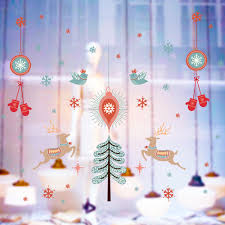 compare prices on wholesale glass christmas ornaments online 1pc christmas happy multicolor pvc wall sticker glass door window home decor decals wholesale christmas ornaments kerst 2017 gh