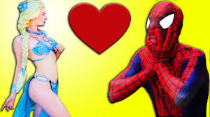spiderman love woman joke frozen elsa