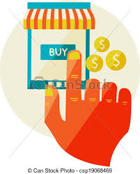 Awning Online Clip Art Vector Of Online Shopping Sale Laptop And Smart Phone