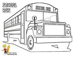 coloring printable bus at yescoloring paint pinterest