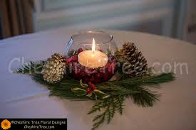 Pine Cone Wedding Table Decorations Christmas Time Wedding At Castle Hotel Spa Mary Ellen And Sandy