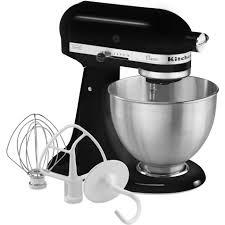 all black kitchenaid mixer kitchenaid k45ssob classic 4 5 quart stand mixer onyx black