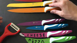 imperial kitchen collection colorful knife set stainless steel