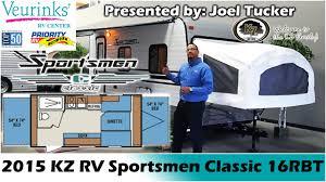 Sportsman Rv Floor Plans Kz Rv Sportsmen Classic 16rbt New Hybrid Travel Trailer 2015
