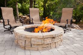round patio stone awesome circle fire pit rosetta round outdoor fire pit kit fire
