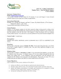 Resume Writing Workshop Objectives by English 12 Dual Enrollment Syllabus