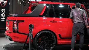 land rover truck 2015 shanghai 2015 startech range rover pickup is red and covered