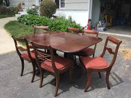 Duncan Phyfe Dining Room Table And Chairs Duncan Phyfe Dining Room Table 6 Chairs In Bergen County Glen