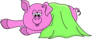 free hog clip art image cartoon pig blanket