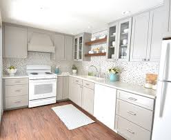gray white kitchen remodel centsational style
