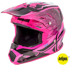 pink motocross boots toxin resin black neon pink helmet fly racing motocross mtb