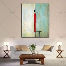 single man home decor hand painted oil painting abstract single man decoration painting
