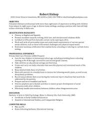Sample Resume For Daycare Teacher by Child Care Experience Resume Resume For Your Job Application