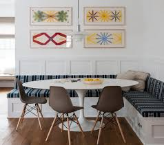 ideas for dining room likeable navy blue lined banquette seating pattern ideas for