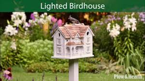 kingsgate cottage lighted birdhouse and pole sku 59c97 plow