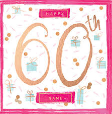 send personalised 60th birthday cards funky pigeon