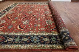 How Big Should A Rug Pad Be New Hand Knotted Heriz Serapi Wool Rug 14 U0027 X 24 U0027 Palace Size Rust