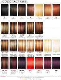 Shades Of Red Color Chart by Chart Shades Of Auburn Hair Color Chart