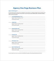 1 page business plan templates free one page business plan