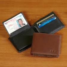 West Virginia mens travel wallet images Personalized leather wallets at brookstone buy now jpg