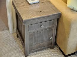Living Room End Tables With Storage Simple Living Room With Rustic End Tables Storage Reclaimed Wood