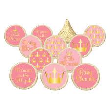 amazon com princess baby shower invitations pink gold