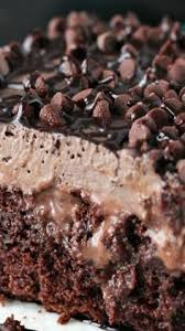 german chocolate poke cake is very easy to make with a super fudgy