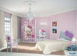 Pink And White Striped Bedroom Walls Breathtaking Bedroom Decoration Using Patterned Black And