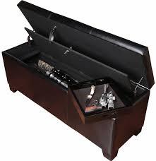 gun storage ottoman gun concealment furniture bench cabinet safe