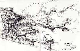 alfa img showing japanese garden sketch champsbahrain com