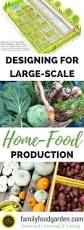 permaculture vegetable garden layout designing for large scale home food production