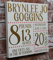 Baby Plaques Personalized Best 25 Birth Announcement Sign Ideas On Pinterest Baby Name
