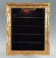Curio Cabinets Under 200 00 Gold Frame Wall Mounted Curio Display Cabinet