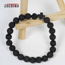 mens bracelet beads images Cocotina cross beads bracelet fashionable volcanic stone jewelry jpg
