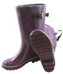 womens boots large calf wide calf s boots purple jileon rainboots