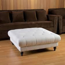 furniture square white microfiber storage ottoman cooffee table