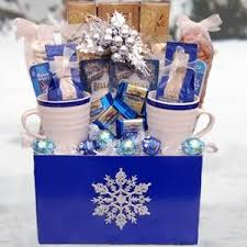 gift baskets christmas let it snow winter gift basket this would be easy and cheaper to