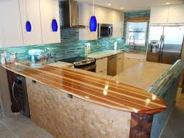 Surfboard Bar Table Surfboard Countertop For A Kitchen Beach Style Kitchen