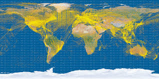 Satellite Maps 2015 V Maps World Air Traffic From Space