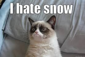 Hate Snow Meme - hate snow quickmeme