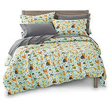 Yellow Polka Dot Duvet Cover Amazon Com Twin Reversible Woodland Creatures Duvet Cover Set