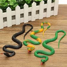 3pcs plastic fake snake prank trick prop joke halloween garden