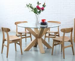 round table seats 6 diameter kitchen oscar round dining table glass solid oak 130cm diameter of