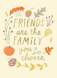 friends are family thanksgiving card for the best friend who s