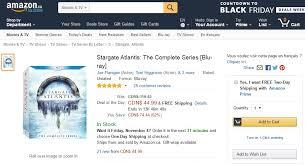amazon black friday movie lightning deals amazon canada lightning deal 44 99 stargate atlantis the