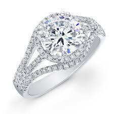 semi mount engagement rings 14k white gold halo semi mount engagement